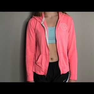 Pink Abercrombie&Fitch Zip Up